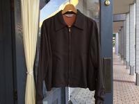 50's Ensenada brown gabardine jacket - BUTTON UP clothing