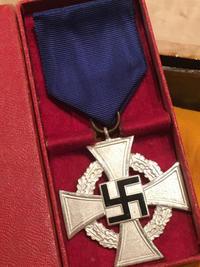 ナチスドイツ 文官25年勤続十字章。 - 軍隊屋「前さん」今日の一人言!