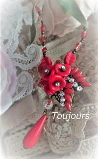 Y字ネックレス~レッド~ - Bijoux  du  Bonheur ~ビジュー ドゥ ボヌール~