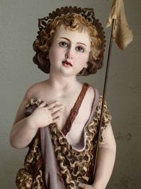 幼い洗礼者ヨハネと神の子羊 49.5cm /H232 - Glicinia 古道具店