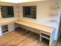 書斎L型デスク - オーダー家具の現場レポート