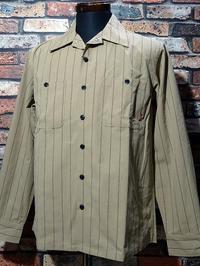 Bluco ブルコ 長袖ストライプ ワークシャツ (OL-109-020) work shirts 7,800円(内税) 2種 入荷 - ZAP[ストリートファッションのセレクトショップ]のBlog
