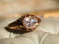 ✨輝きよ、届け✨アンティーク・大粒ローズカットダイヤモンド・ソリテールリング - 欧州アンティーク・ジュエリー