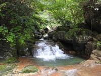 『粥川の三枚滝(サンマイダキ)と宝ヶ滝(タカラガタキ)を目指したのですが・・・・・』 - 自然風の自然風だより