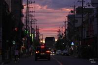 大阪帰路途中の夕焼け - ぶらり記録 2:奈良・大阪・・・