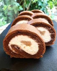 マロンロールケーキ - 東京都調布市菊野台の手作りお菓子工房 アトリエタルトタタン