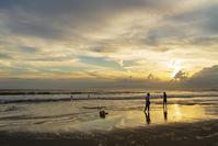 片瀬海岸西浜の夕景 - エーデルワイスPhoto