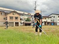 関係者だけの「工場跡地の草刈りイベント」がありました - 浦佐地域づくり協議会のブログ