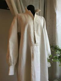 手織り厚手麻紳士ドレスシャツ20 - スペイン・バルセロナ・アンティーク gyu's shop