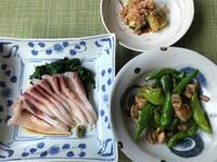 最近三日間の夕食♪遅まきながら夏野菜を使って♪ - やせっぽちソプラノのキッチン2
