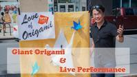 Giant Origami Event Performance in Boerum Hill Brooklyn Vol.1 - Triangle NY