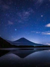 2020.9.14~15富士山星景と明け方の月(田貫湖) - ダイヤモンド△△追っかけ記録