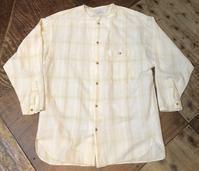 9月17日(木)入荷!90sMADE IN U.S.A TWEEDS all cotton ノーカラーシャツ! - ショウザンビル mecca BLOG!!