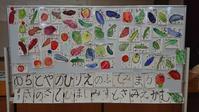 今日の絵手紙教室は体育館でした。 - ムッチャンの絵手紙日記