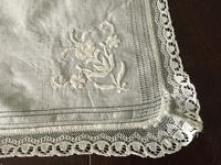 モスリンコットン刺繍布100 - スペイン・バルセロナ・アンティーク gyu's shop