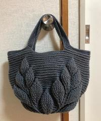 リーフ柄のバッグ♪お客様作品2020.9月 - 空色テーブル  編み物レッスン