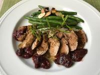 フライパンで作る豚フィレ肉のロースト・無花果のチャツネ添え - やせっぽちソプラノのキッチン2