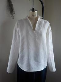 スキッパーシャツオフ白 - yunoのアトリエ