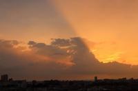 薄明光線(光芒) - 日々の風景