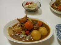 野菜ごろごろチキンカレー。 - のび丸亭の「奥様ごはんですよ」日本ワインと日々の料理