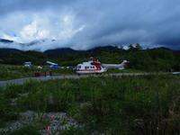 ヘリコプター - 飛騨山脈の自然