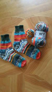 マルティナさんのKFS101の靴下出来ました/ノッティング2つ目織りはじめ - L'Écume des jours