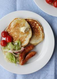 酵母でパンケーキ - Nasukon Pantry