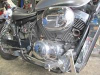 Y原サン号 シャドウ400の車検取得♪・・・からのM城さんよりルートビアの差し入れ・・・(笑) - バイクパーツ買取・販売&バイクバッテリーのフロントロウ!