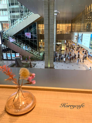 「伊右衛門カフェ」から街ゆく人を眺める… @ルクアイーレ・大阪 - 趣味とお出かけの日記