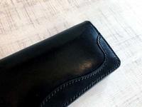 黒い長財布 - dahliacyan