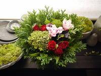妹さんのお誕生日にアレンジメント。「濃いめの色合いで」。2020/09/16。 - 札幌 花屋 meLL flowers