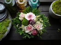 お誕生日のアレンジメント。「ピンク系」。2020/09/17。 - 札幌 花屋 meLL flowers