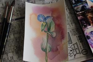 気分転換に水彩 - 絵と庭