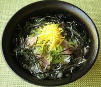鰹のてこね寿司・キビナゴの酢の物&金目鯛と墨烏賊のカルパッチョ等 - やせっぽちソプラノのキッチン2