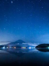 2020.9.22富士山上空に輝く火星(平野浜) - ダイヤモンド△△追っかけ記録