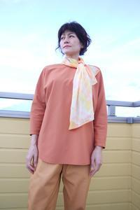 絞り染めシルクのスカーフオレンジ(1397) - natural essence : EKO PROJECT