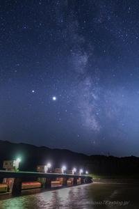 巨大水門と銀河 - デジタルで見ていた風景