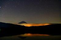 令和2年9月の富士(6)西湖の夜の富士 - 富士への散歩道 ~撮影記~