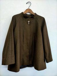 ラグラン袖のショートコート - warmheart*洋服のサイズ直し・リフォーム*