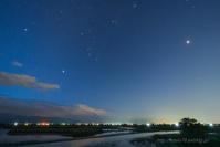 福島潟夜明け前 - デジタルで見ていた風景