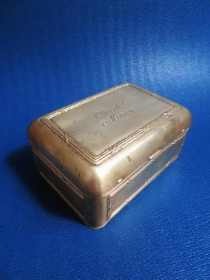 ショコラ・ムニエの真鍮製ボックス - 友くんのパリ蚤の市散歩