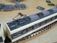 鉄コレ 富山地方鉄道 14720形 整備2 屋根上、台車、床下機器塗装 - 新湘南電鐵 横濱工廠3