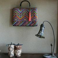 色鮮やかにバッグ完成 - 刺繍や縫い物 生け花と庭仕事
