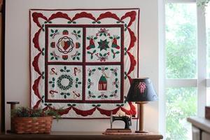 クリスマスの壁掛けキルト、できあがってきました♪ - nantucket-countryのBLOG