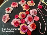 秋のバラ(途中経過) - Yumiko Sakura Embroidery