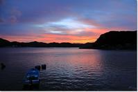 今朝の日の出前 - ハチミツの海を渡る風の音