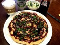 お好み焼き(えび&ブタ) - よく飲むオバチャン☆本日のメニュー
