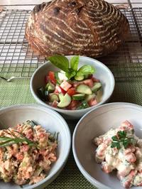 カンパーニュを焼いた日は♪3種類のリエット&春菊のスープ♪ - やせっぽちソプラノのキッチン2