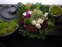 敬老の日にお母様にアレンジメント。「ピンク系、明るい感じ」。北ノ沢にお届け。2020/09/21。 - 札幌 花屋 meLL flowers