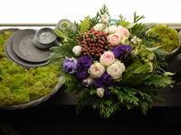 敬老の日にアレンジメント。「ピンク~紫系」。南11条にお届け。2020/09/21。 - 札幌 花屋 meLL flowers